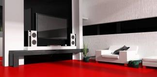 комната tv Стоковое Фото