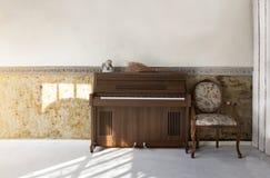 Комната Vitorian живущая в предпосылке света утра Стоковые Изображения RF