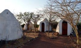 Комнаты хат лагеря трудные действующие стоковые изображения rf