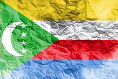 Коморские Острова сигнализируют, символ иллюстрации национального флага 3D 3D Коморских Островов Стоковые Фотографии RF
