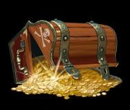 Комод сокровища пирата Стоковая Фотография