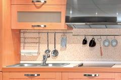 компактная кухня детали Стоковая Фотография