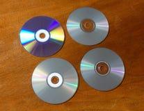 Компактные диски опорожняют и польностью 4 компакт-диска Стоковые Изображения