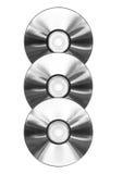 компактный диск изолировал 3 Стоковые Изображения RF