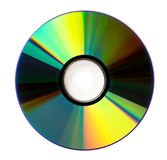 КОМПАКТНЫЙ ДИСК диска DVD на белой предпосылке Стоковое Изображение