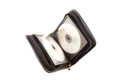 компактный диск случая открытый стоковые фото