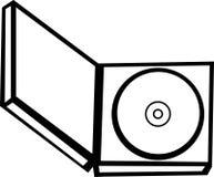 компактный диск случая открытый Стоковая Фотография RF