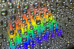 КОМПАКТНЫЙ ДИСК с водой & светом Стоковое Изображение