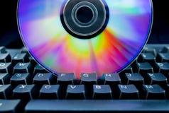 компактный диск цветастый Стоковое Изображение RF