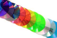 КОМПАКТНЫЙ ДИСК цвета и DVD Стоковое Изображение