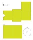 компактный диск diecut план dvd Стоковое Изображение