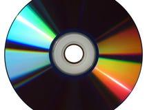 КОМПАКТНЫЙ ДИСК DVD опорожняет, пробел - спиральный изолированный след стоковое изображение rf