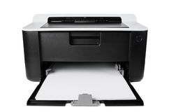 Компактный изолированный принтер Стоковая Фотография