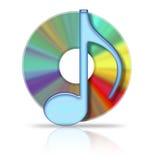 Компактный диск музыки иллюстрация вектора
