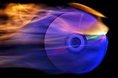 Компактный диск на огне Стоковые Фото