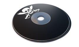 Компактный диск с концепцией пиратского программного обеспечения Стоковые Изображения