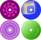 Компактный диск - шаблон дизайна ярлыка Dvd Стоковые Изображения RF