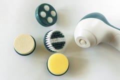 Компактный massager с меняемыми соплами стоковые изображения rf