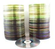 Компакты-диски на белой предпосылке Стоковое Изображение