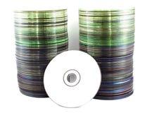 Компакты-диски на белой предпосылке Стоковое Изображение RF