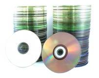 Компакты-диски на белой предпосылке Стоковое Фото