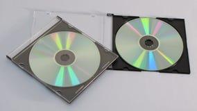 Компакт-диск 2 с пластичным случаем стоковое фото rf