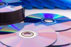 Компакт-диски крупного плана Стоковые Изображения RF