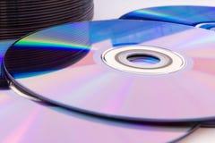 Компакт-диски крупного плана Стоковые Фото