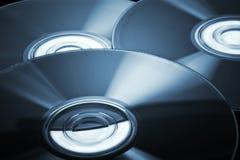 Компакт-диски с голубой подкраской Стоковое Изображение