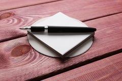Компакт-диск и ручка Стоковая Фотография RF