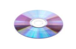 Компакт-диск на белой предпосылке Стоковая Фотография RF