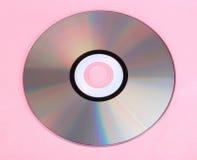 Компакт-диск на пинке Стоковая Фотография