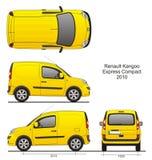 Компакт 2010 Renault Kangoo срочный Стоковое Изображение