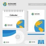 Компания конструировала тетрадь, календарь, крышку компактного диска и также помещает бесплатная иллюстрация