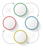 Компания отчете о процесса диаграммы шаблона меню Стоковые Изображения