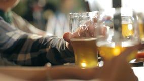 Компания потехи выпивает пиво на баре акции видеоматериалы