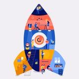 Компания рабочей зоны Startup бесплатная иллюстрация