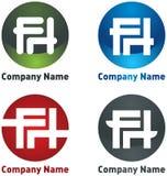 компания f h помечает буквами логос Стоковое Изображение RF