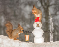 Компания Snowmans Стоковая Фотография