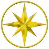 компас золотистый Стоковое фото RF