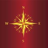 компас золотистый иллюстрация вектора