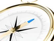 компас золотистый Стоковое Изображение