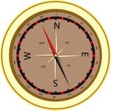 компас золотистый Стоковая Фотография RF