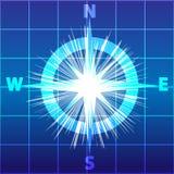 Компас изолированный на голубой белой предпосылке также вектор иллюстрации притяжки corel иллюстрация вектора
