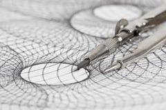 Компас и геометрические формы Стоковая Фотография