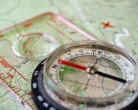 Компас и карта 2 Стоковое Фото