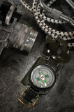 компас камеры старый Стоковое Фото