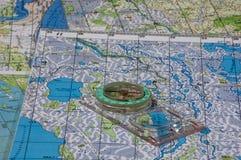 компас магнитный Стоковые Фотографии RF