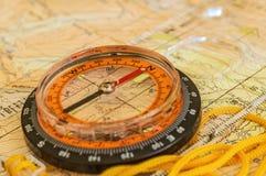 Компас на карте Стоковое Изображение RF
