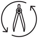 Компас чертежа - значок Стоковые Фотографии RF
